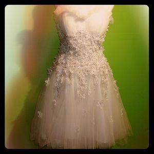 Cinderella White Hand Beaded Wedding Dress